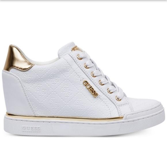 Guess Flowurs Embossed Wedge Sneaker